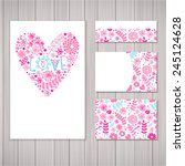 set of  card and invitation... | Shutterstock .eps vector #245124628
