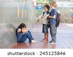 elementary age bullying in... | Shutterstock . vector #245125846
