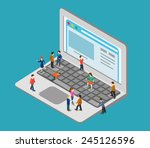 flat 3d web isometric little... | Shutterstock .eps vector #245126596