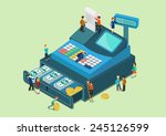 flat 3d web isometric little... | Shutterstock .eps vector #245126599
