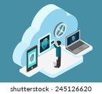 biometric fingerprint... | Shutterstock .eps vector #245126620