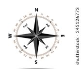 compass with shadow on white... | Shutterstock .eps vector #245126773