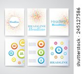 templates. set of web  mail ... | Shutterstock .eps vector #245127586