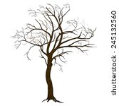 Isolated Vector Tree...