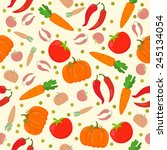 seamless pattern with... | Shutterstock .eps vector #245134054
