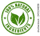 natural ingredients stamp | Shutterstock .eps vector #245134858