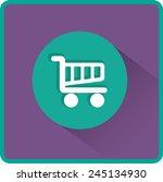flat vector cart icon | Shutterstock .eps vector #245134930