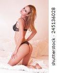 portrait of a sensual slender... | Shutterstock . vector #245136028