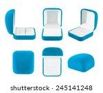 Blue Velvet Box For The Ring ...