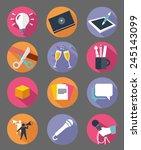 modern flat icons vector... | Shutterstock .eps vector #245143099