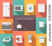 Постер, плакат: Set of kitchen appliances