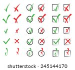 vector collection of check marks | Shutterstock .eps vector #245144170