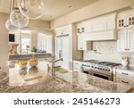beautiful new kitchen interior... | Shutterstock . vector #245146273