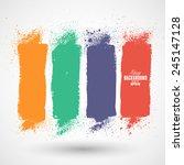 summer style grunge banners | Shutterstock .eps vector #245147128