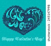 valentines day heart made of... | Shutterstock .eps vector #245147998