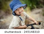 cute 2 year old mixed race... | Shutterstock . vector #245148310