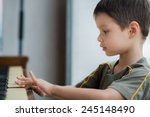 cute 4 year old mixed race...   Shutterstock . vector #245148490