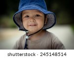 cute 2 year old mixed race... | Shutterstock . vector #245148514