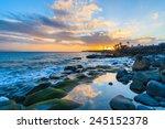 Sunset Over Ocean In Playa...