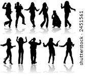 vector silhouettes dancing man... | Shutterstock .eps vector #2451561