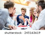 image of business friends... | Shutterstock . vector #245163619