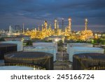 oil refinery and storage tanks...   Shutterstock . vector #245166724