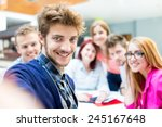 group selfie of business... | Shutterstock . vector #245167648