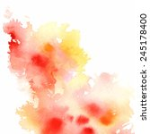 big red yellow watercolor...   Shutterstock .eps vector #245178400
