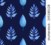 seamless pattern with leaves on ... | Shutterstock .eps vector #245180128