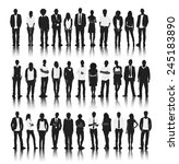 silhouettes of casual people in ... | Shutterstock .eps vector #245183890