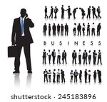 silhouettes of business people... | Shutterstock .eps vector #245183896