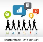 group of business people... | Shutterstock .eps vector #245184334