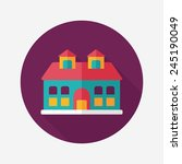 building flat icon with long... | Shutterstock .eps vector #245190049