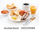 delicious english breakfast... | Shutterstock . vector #245193484