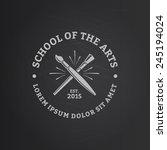vector logo template for school ... | Shutterstock .eps vector #245194024