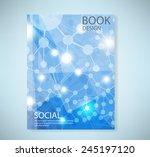 cover report social network...   Shutterstock .eps vector #245197120
