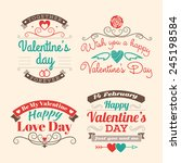 valentine's day set of label ... | Shutterstock .eps vector #245198584