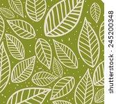 leafs background design  vector ... | Shutterstock .eps vector #245200348