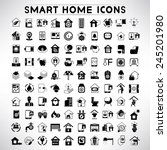smart home icons set  home... | Shutterstock .eps vector #245201980