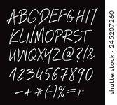 white vector alphabet written... | Shutterstock .eps vector #245207260