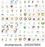 logo mega collection  abstract... | Shutterstock .eps vector #245207854