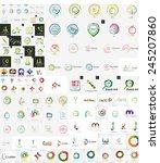 logo mega collection  abstract... | Shutterstock .eps vector #245207860