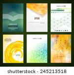 vector web and mobile interface ... | Shutterstock .eps vector #245213518