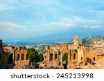 ancient greek amphitheatre in... | Shutterstock . vector #245213998
