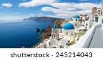 panoramic view of the oia... | Shutterstock . vector #245214043