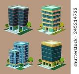 various cartoon style isometric ...   Shutterstock .eps vector #245214733