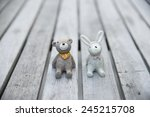 Ceramic Bears And Rabbit