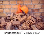 construction helmet safety and...   Shutterstock . vector #245216410