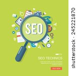 search engine flat illustration ... | Shutterstock .eps vector #245221870
