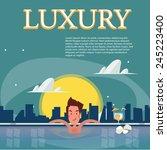 samart man relaxing in a... | Shutterstock .eps vector #245223400